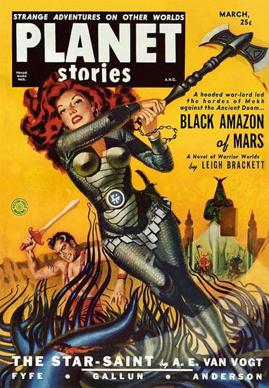 Black Amazon of Mars Retro Sci-fi Cover