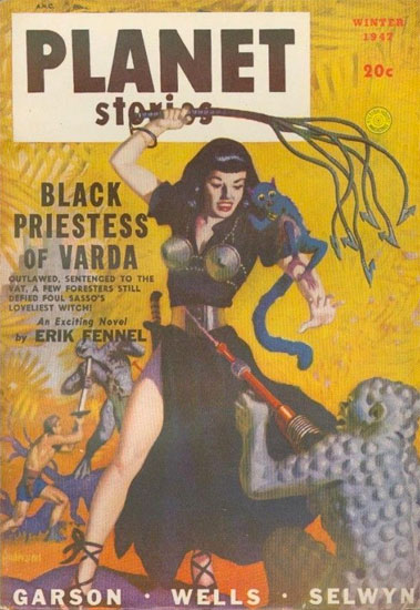The Black Priestess of Varda Retro Science Fiction Cover
