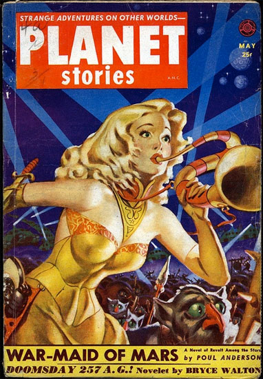 War-Maid of Mars Retro Science Fiction Cover