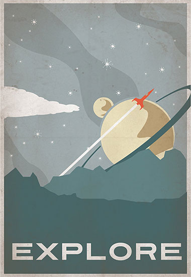 Indelible Ink's Retro Scifi Posters and Prints