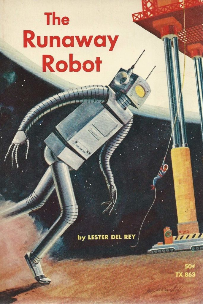 The Runaway Robot Vintage Sci-Fi Book Cover