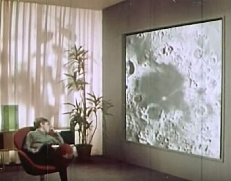 Home of the Future: Wall TV Screen