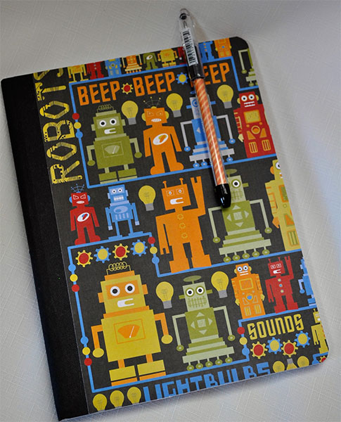 Retro Robot Notebook