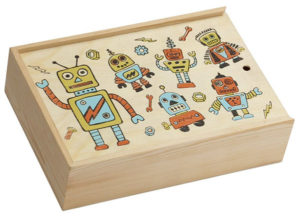Retro Robot Pencil Box