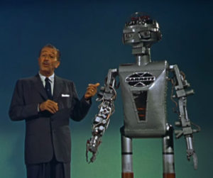 Walt Disney and a Robot