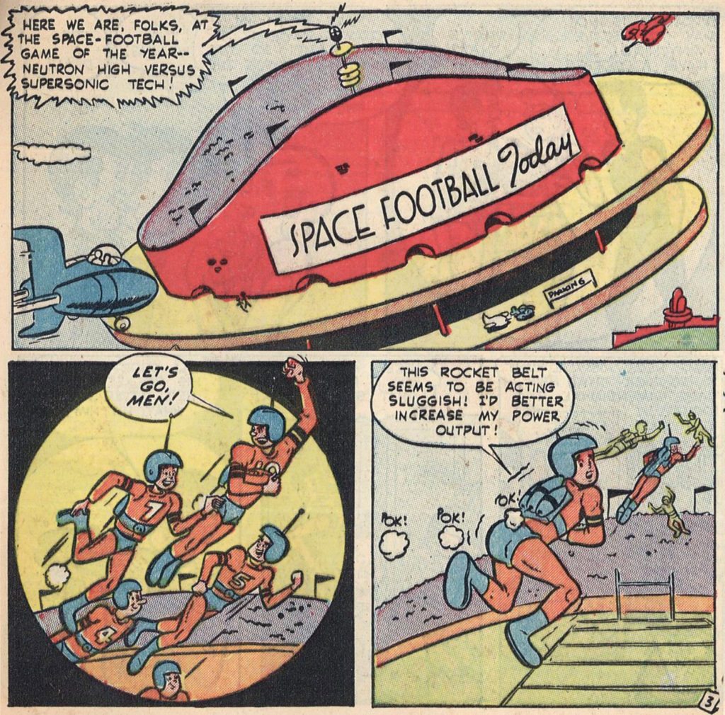 Jetta of the 21st Century Comic Space Football