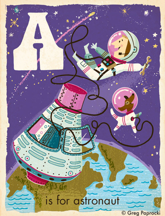 A is for Astronaut - 1960s retrofuture