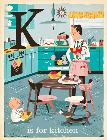 K is for Kitchen - 1950s midcentury design