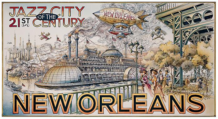 Disneyland Paris - New Orleans 21st Century Jazz Poster