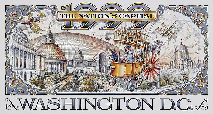 Disneyland Paris Retrofuture Washington DC Poster