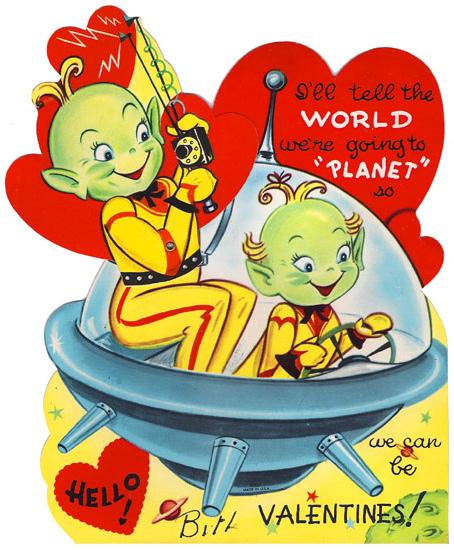 Vintage Alien Scifi Valentine