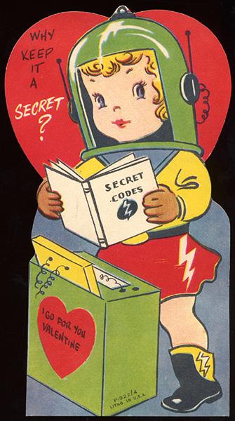 Atompunk Secret Agent Valentine