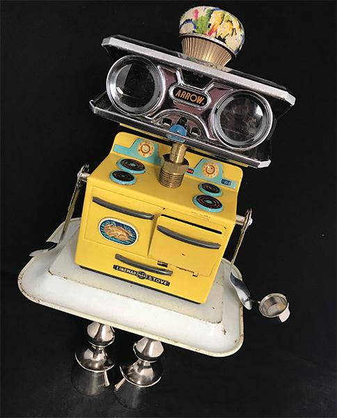 Betty Crockbot Retro Robot Sculpture
