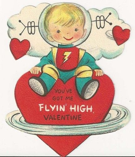 Astronaut Vintage Valentine - Flying High