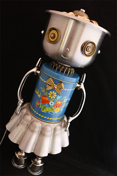 Found Object Robot Sculpture