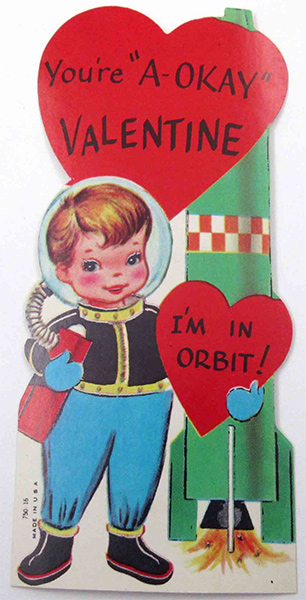 I'm in Orbit - Vintage Space Rocket Valentine
