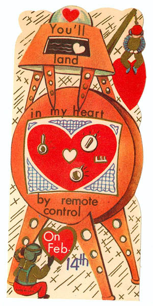 Land in my Heart - Vintage Science Fiction Valentine