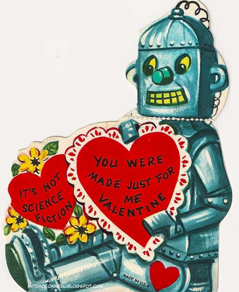 Not Science Fiction Vintage Robot Valentine