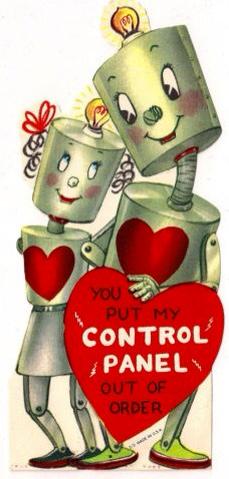 Robot Love Vintage Valentines