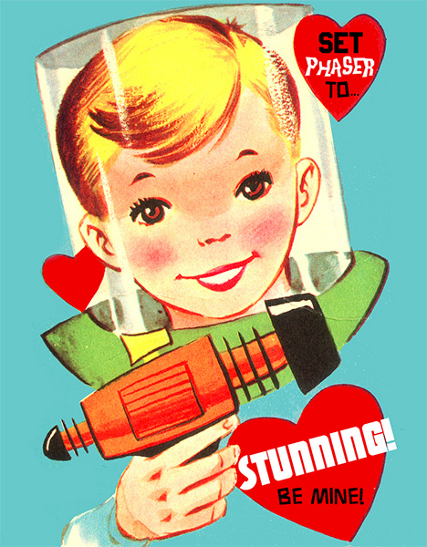 Set Phaser to Stunning Vintage Scifi Valentine