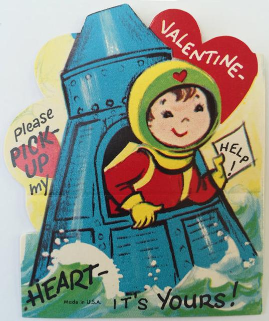 Space Capsule Vintage Valentine