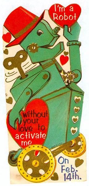 Retro Tin Robot Valentine