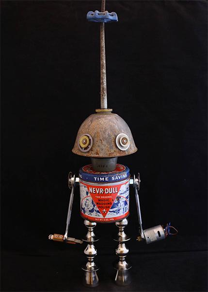 Vintage Robot Sculptures