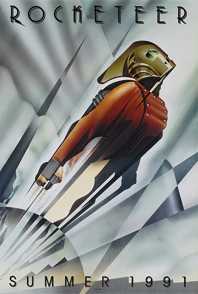 The Rocketeer Original Art Deco Movie Poster