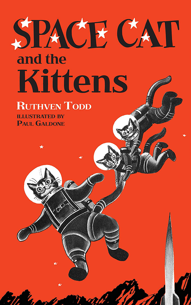 Space Cat and the Kittens Vintage Science Fiction Book Cover