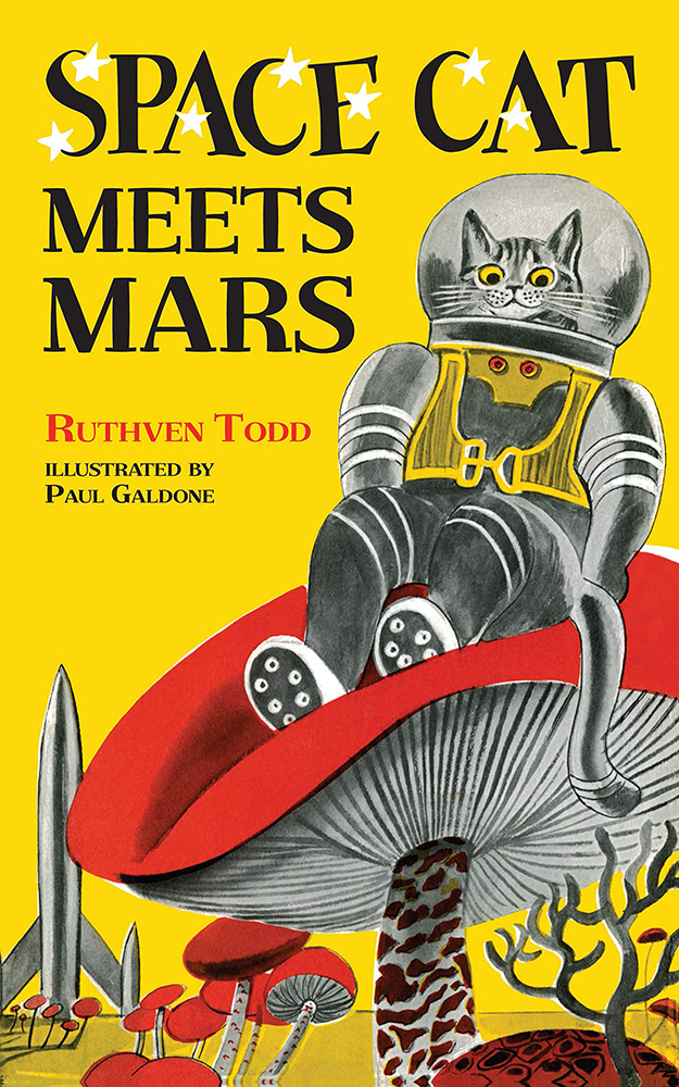 Space Cat Meets Mars Vintage Sci-fi Children's Book