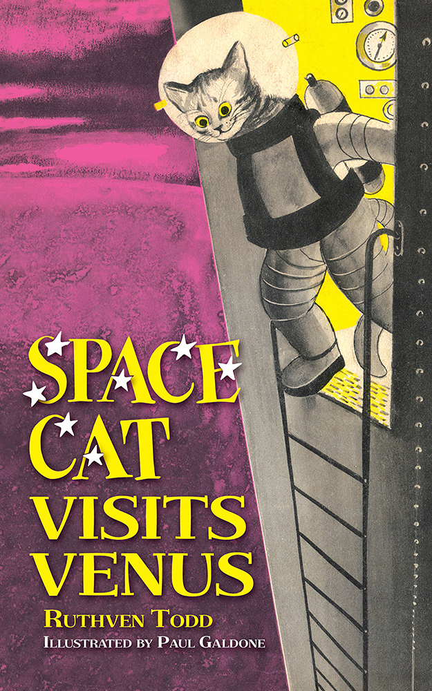 Space Cat Visits Venus Vintage Book Cover